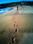 englishman and his foot prints