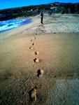 englishman and his foot prints