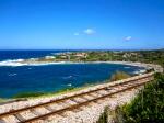 train tracks and the sea