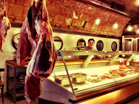 Fantastic butcher shop