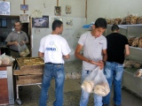 Inside Ramallah's pita breadfactory