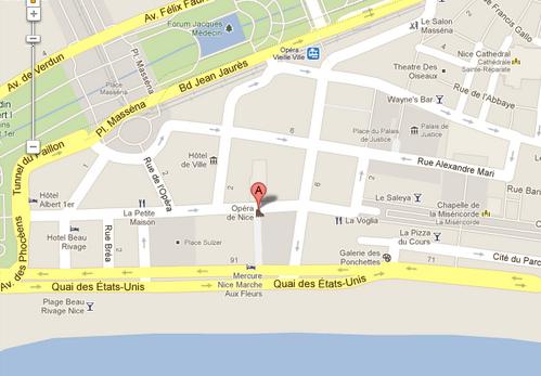 Nice opera map