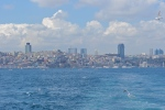 View of the Bosphorus Sea from a ferry in Istanbul